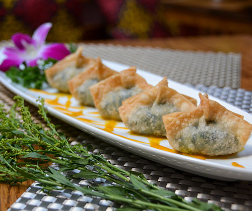 A6.	Crispy Watercress & Soy Cheese Wonton